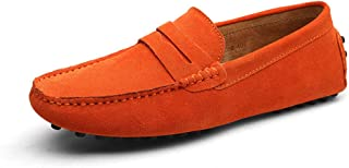 TAZAN Mocassin Chaussures d'été pour Hommes en Cuir Respirant Chaussures Basses en Cuir Angleterre Chaussures Grande Taill...