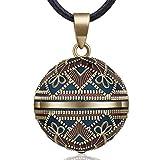 EUDORA Harmony Ball Rétro Le Style Collier Bola de Grossesse, Musique souhaitant Carillon Boule Pendentif Collier pour Femmes Dames Meilleur Cadeau de Bijoux, 76,2cm+114cm