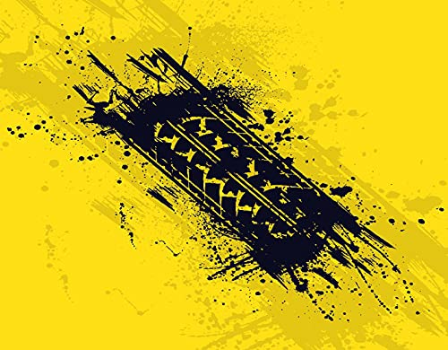 TISAGUER 5D Diamante Pintura por Número Kit,Resumen Neumático negro Pista Silueta Manchas de tinta Computadora de automóvil,Bricolaje Diamond Painting kit completo Bordado Decoración del hogar