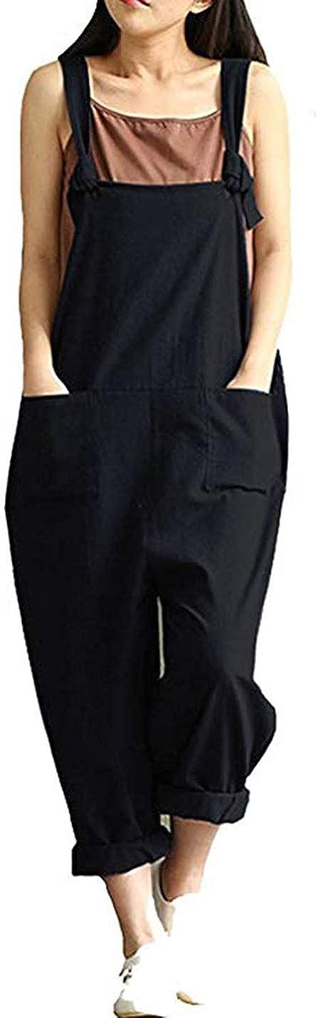 Yeokou Women's Summer Casual Loose Baggy Store Leg Max 63% OFF H Wide Cotton Linen