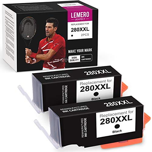 Price comparison product image LemeroUexpect Compatible Ink Cartridge Replacement for Canon 280 XXL PGI-280XXL for PIXMA TR8520 TS8320 TS9120 TS6120 TS8220 TS6220 TS6320 TR7520 TS9521C TS9120 TS702 Printer (2 Black)
