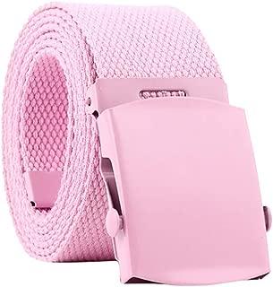 BBBelts Women 1-1//8 Pink Alligator Print Leather Riveted Snap On Buckle Belt