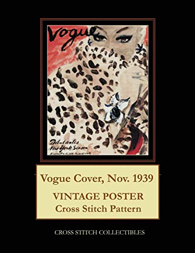 Vogue Cover, Nov. 1939: Vintage Poster Cross Stitch Pattern