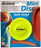 alldoro 63053 - Juego de 3 Discos de Tiro Mini (6,5 cm de diámetro, Silicona Blanda), diseño de neón, Color Amarillo