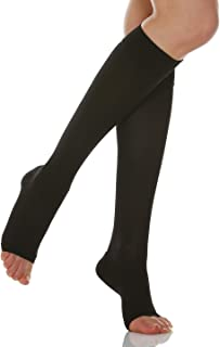Relaxsan Basic 950A Open-Toe Graduated Compression Firm Support Knee-High Socks 20-30 mmHg
