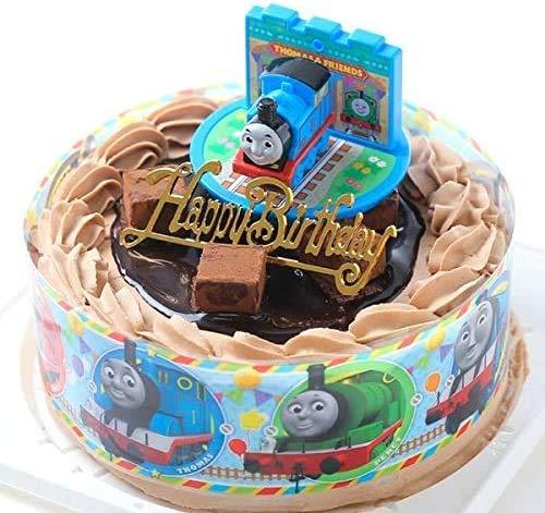 バースデー/生チョコ飾り/きかんしゃトーマスケーキ ・ショコラデコレーション5号 北海道純生クリーム(バースデーオーナメント・キャンドル6本付き)キャラデコお祝いケーキ