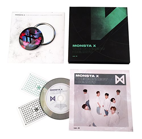 MONSTA X Album - THE CONNECT : DEJAVU [ Ver. III ] CD + Booklet + 2 Photocards + FREE GIFT / K-POP Sealed