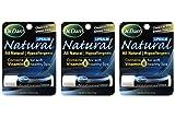 Dr. Dan's Natural Lip Balm - 3 Pack- Vit E, Hypoallergenic - Best Lip Balm for Dry Cracked Lips - Safe for Kids, Men and Women