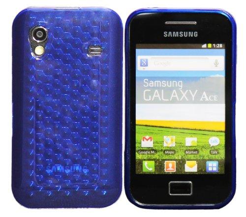 Luxburg® Diamond Design custodia Cover per Samsung Galaxy Ace GT-S5830 colore blu oltremare, custodia in silicone TPU