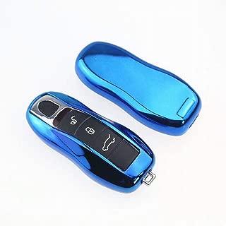 protection int/égrale cl/é sans cl/é Smart Fob compatible avec Cayenne MACAN protection compl/ète KIBILLL Couvercle de porte-cl/é Porsche couvercle souple en TPU Premium 360 degr/és