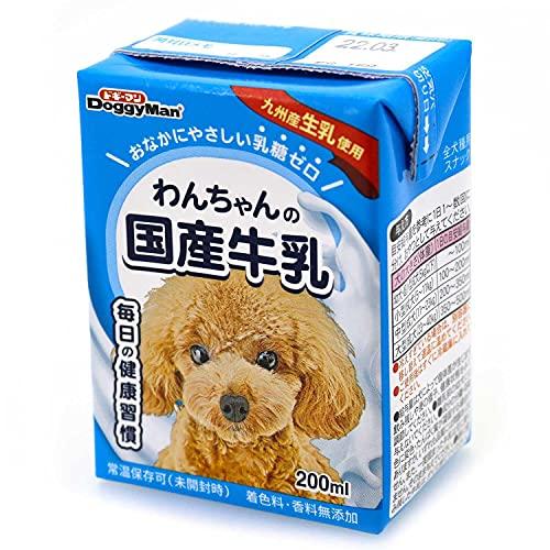 スマートマットライト ドギーマン わんちゃんの国産牛乳 全犬種用 200ml×24個 (ケース販売)