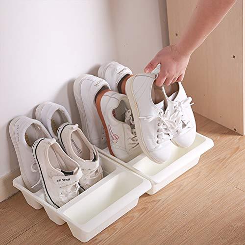weichuang Caja de zapatos para zapatos creativa vertical caja de almacenamiento de zapatos organizador de plástico a prueba de polvo soporte de zapatos para el hogar caja de zapatos