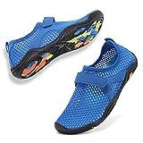 CIOR Boys & Girls Water Shoes Quick Drying Sports Aqua Athletic Sneakers Lightweight Sport Shoes(Toddler/Little Kid/Big Kid) U1ELJSX006-Deep Blue-34
