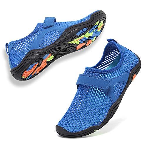 CIOR Boys & Girls Water Shoes Quick Drying Sports Aqua Athletic Sneakers Lightweight Sport Shoes(Toddler/Little Kid/Big Kid) U1ELJSX006-Deep Blue-30
