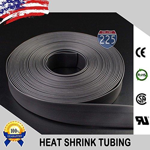 """225FWY 100 FT 5/16"""" 8mm Polyolefin Black Heat Shrink Tubing 2:1 Ratio"""