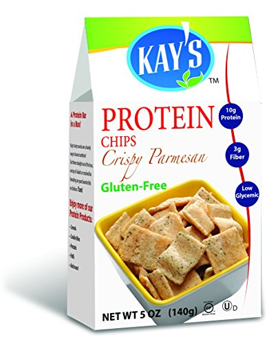 Kay's Naturals Protein Chips, Crispy Parmesan, Gluten-Free, Low Fat, Diabetes Friendly, All Natural Flavorings, 5 Ounce (Pack of 6)