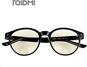 Xiaomi Mijia ROIDMI Blue Light Blocking Glasses, Blue Light Filter Computer Glasses Computer Reading Glasses,Anti Eyestrain/Anti Scratch/Anti Smudgy,Sleep Better for Women/Men (Black)