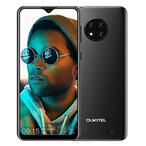 OUKITEL C19 Smartphone ohne Vertrag, 6,49 Zoll 2GB+16GB Handy, 4000mAh Akku 13MP Quad Kamera, 4G Dual SIM Android 10, 256GB erweiterbar (Schwarz)
