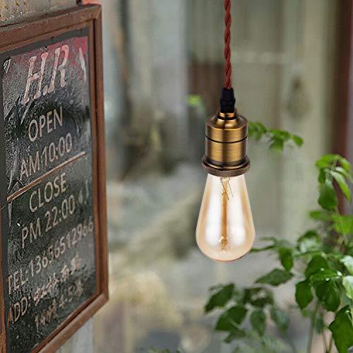 (セーディコ)Cerdeco さりげない裸電球照明 進化した懐かしいあかり アンティーク調のブロンズ ソケットランプ レトロ感溢れる ペンダントライト インテリア照明 PDT25