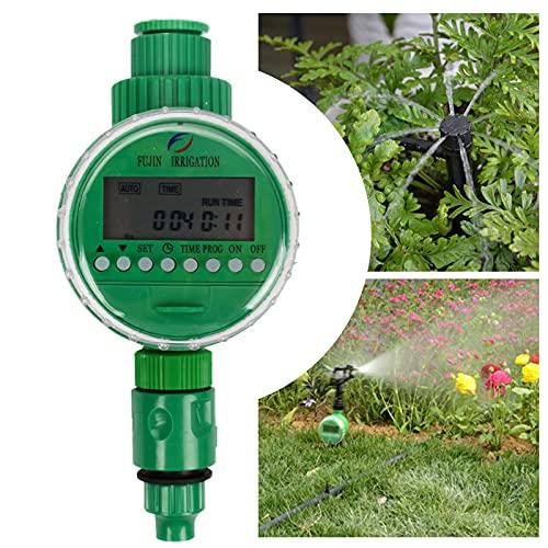 """Joyhoop Programador Riego automatico, 16 programas de riego,programador de riego a pilas,con LCD 1m - 9h 59m Digital Temporizador Riego 3/4"""", IP64 resistente al agua y duradero,para jardines d"""