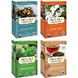 Numi Organic Tea Variety Pack, 18 Count Box of Tea Bags (Pack of 4), Aged Earl Grey, Breakfast Blend, Jasmine Green & Moroccan Mint (Packaging May Vary)