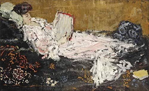 Berkin Arts Kees Van Dongen Giclee Auf Leinwand drucken-Berühmte Gemälde Kunst Poster-Reproduktion Wand Dekoration(Der rosafarbene Bademantel Das rosafarbene Kleid) Große größe 80 x 49.1cm #DFB