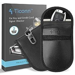TICONN Premium Faraday Bag for Key Fob, faraday bag, faraday pouch, signal blocking bag, signal blocking pouch, car security, vehicle security
