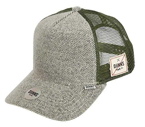 DJINNS Ripjersey Trucker Cap, Olive, one size
