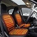 Tvird Auto Sitzheizung Heizkissen Heizauflage Heizstufe beheizbar Kissen 12V schwarz (1 Paar)