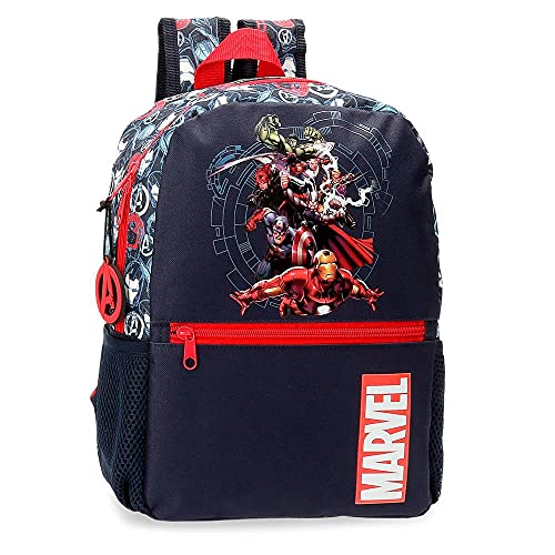 Marvel Los Vengadores Avengers Team Mochila Adaptable Azul 25x32x12 cms Poliéster 9,6L