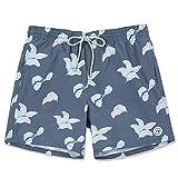 TY.OLK Pantalones Cortos de natación para Hombre Pantalones Cortos de Playa de Secado rápido Pantalones Cortos con Bolsillos y Forro de Malla Pantalones Cortos Deportivos de Verano para Hombre