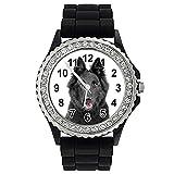 pastore belga - orologio strass donna con il braccialetto in silicone sgp105cz
