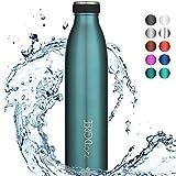 "720°DGREE Borraccia Acqua Termica ""milkyBottle"" – 500 ml, Blue, Blue | Bottiglia Acciaio Inox Isolamento a Vuoto | Senza BPA"