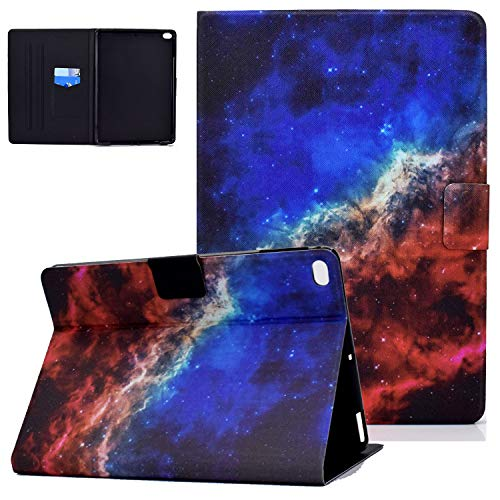 iPad 6th/5th Gen 9.7 Inch 2018/2017 Case and Cover, iPad Air 2nd/1st Gen 2014/2013 Case, UGOcase Slim PU Leather Folio Stand Magnetic Auto Sleep Wake Card Slots Shell Case for iPad 9.7' - Blue Galaxy