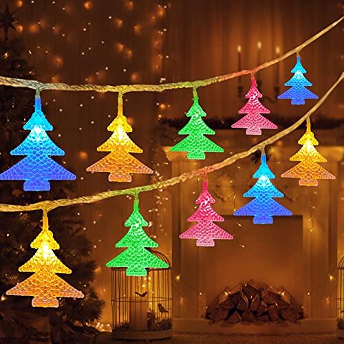 lichterketten bunt,6M,40 led,LED Lichterkette Batterie,Farbe led Weihnachtsbaum lichterkette,Batteriebetriebene Dekorative Lichterkette,Weihnachten Lichterketten,lichtervorhang fenster weihnachten