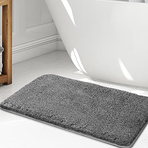 Tvird Badmat, antislip badmat, anti-schimmel badmatten, voor badkamer, waterabsorberende badmatten, zachte microvezels, sneldrogend, wasbaar 80 x 40 cm