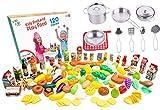 juego de accesorios de cocina para niños, juegos de ollas y sartenes con alimentos de plástico de los juegos de cocina jogo, comida de jugar de niños para niños