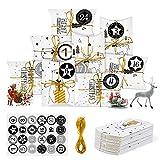 Adventskalender Befüllen Klein Geschenkschachtel Weihnachten Geschenkbox Kraftpapier Tüten...