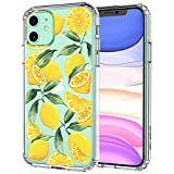 MOSNOVO iPhone 11 Case, Lemon Pattern Clear Design Transparent Plastic Hard Back Case with TPU Bumper Protective Case Cover for Apple iPhone 11 (2019)
