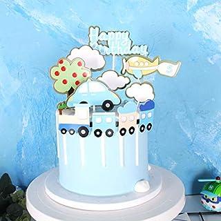 مجموعة تزيين الكيك بتصميم هدايا عيد ميلاد سعيد من PureArte لتزيين حفلات الأطفال وحفلات القطار والطائرات المروحية