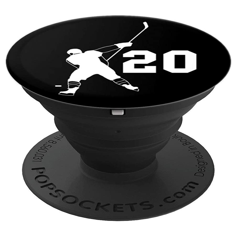 #20, Number 20, Gift for Hockey player boys, girls, men - PopSockets Grip and Stand for Phones and Tablets