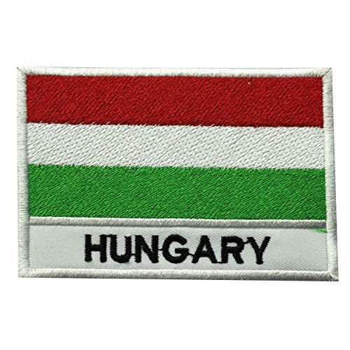 Parche bordado bandera Hungría coser planchar, ropa