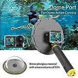 AuyKoo Dome Port für DJI Osmo Action Kamera, Gehäuseabdeckung Unterwassergehäuse 30M Unterwasser + Schwimmgriff zum Schnorcheln Tauchen Schwimmen Surfen für DJI Osmo Action Zubehör