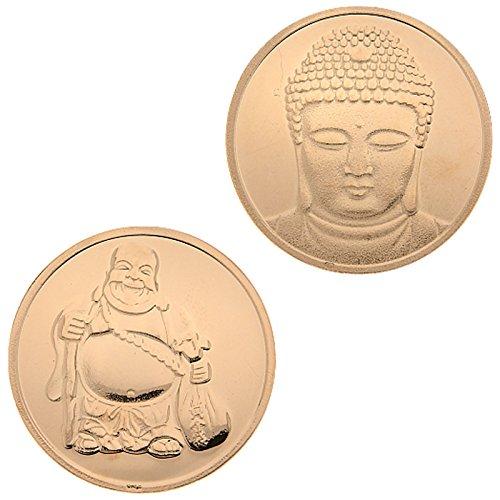 My Imenso Buda monedas insignie Plata rosévergoldet 24mm 24–0173