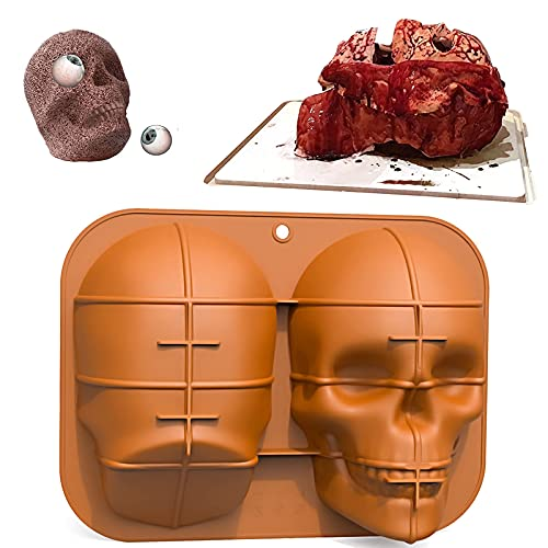 N A Skull Silica gel Mold Large Realistic Baking Cake Mould Non-Stick Leakproof Baking Pan