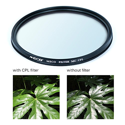 Meco MC CPL Filter Polfilter zirkular Polarisationsfilter Slim 16-Schichten-Multi-Resistant Multi Coated aus Schott Glas,82MM