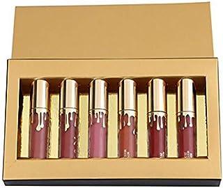 6pcs / set de larga duración Liquid Lipstick Barra de labios mate aterciopelado mate impermeable Lipgloss del lápiz labial...
