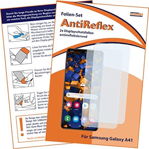 mumbi Schutzfolie kompatibel mit Samsung Galaxy A41 Folie matt, Displayschutzfolie (2x)