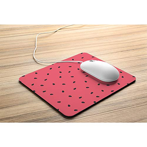 Wozukia Watermelon Slices Mouse Pad with Black Seeds Summer Sweet Fruit Red Gaming Mouse Mat Non-Slip Rubber Base Thick Mousepad Personalized Design Mouse Pad for Laptop Computer PC 9.5x7.9 Inch Photo #4