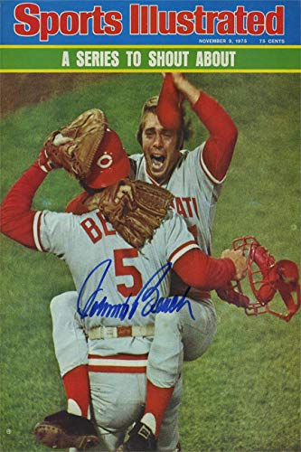 Johnny Bench Sports Illustrated Autograph Replica Super Print - 75 World Series - 10/27/1975 - Unframed